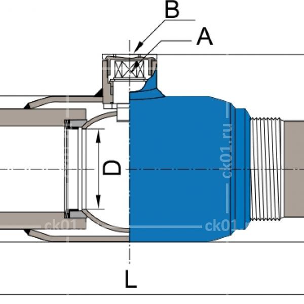 шаровой полнопроходной кран naval
